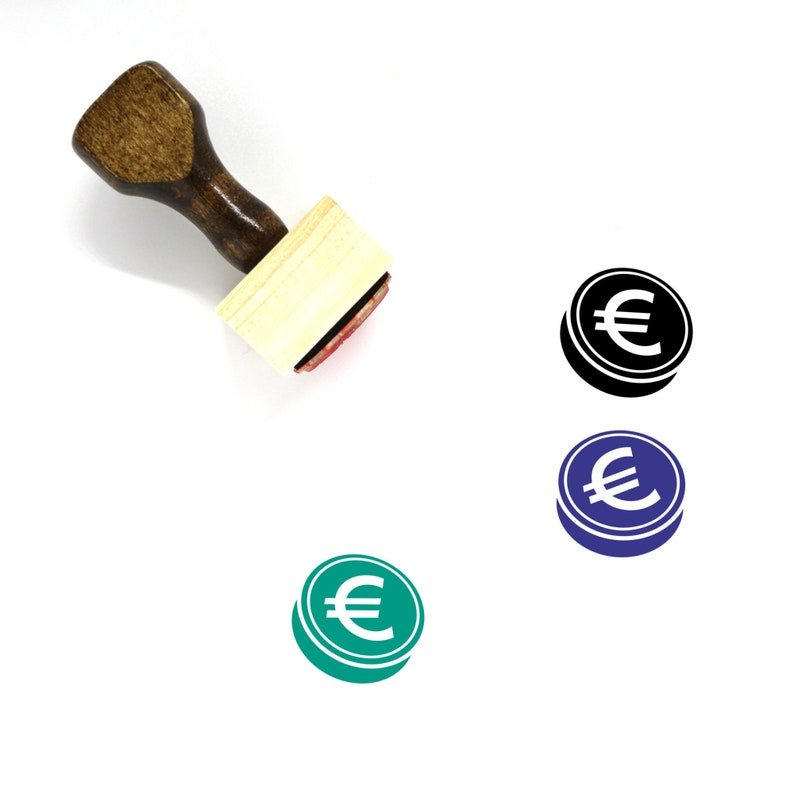 110 Euro Wooden Rubber Stamp No