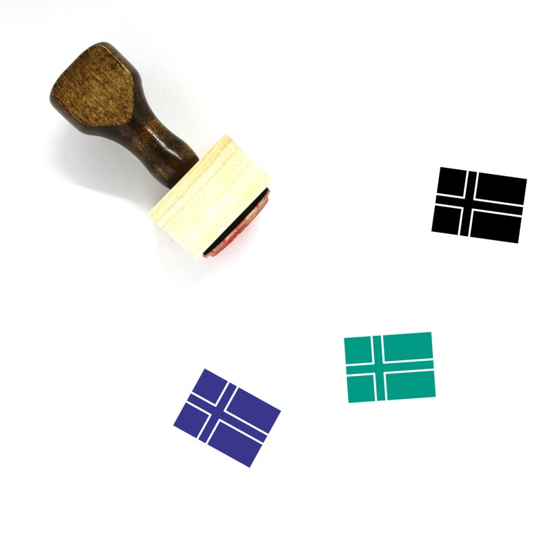 Norway Flag Wooden Rubber Stamp No 12