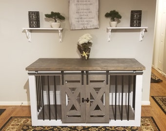 Dog Kennel Furniture Etsy