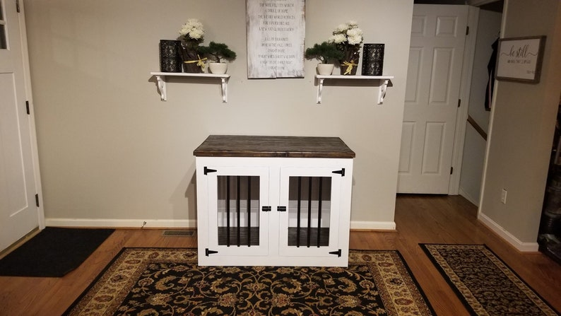 Xl Single Wooden Dog Kennel Large Wood Dog Kennel Dog Kennel Furniture Dog Crate Furniture Pet Furniture Condo Farmhouse Rustic Crate