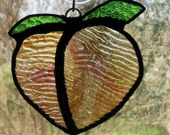 48a8582fa7ac50 Perky Peach Stained Glass Suncatcher