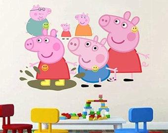 Peppa Pig Wall Art Etsy
