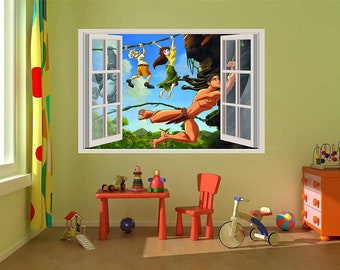 36 or 52 Adventure time 3D Window View Decal Graphic WALL STICKER Art Mural 18 24