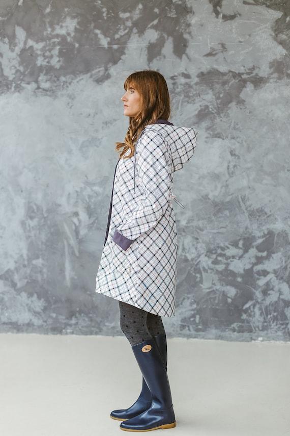 Women Plastic Raincoat Xs S M L Xl, Plastic Trench Coat