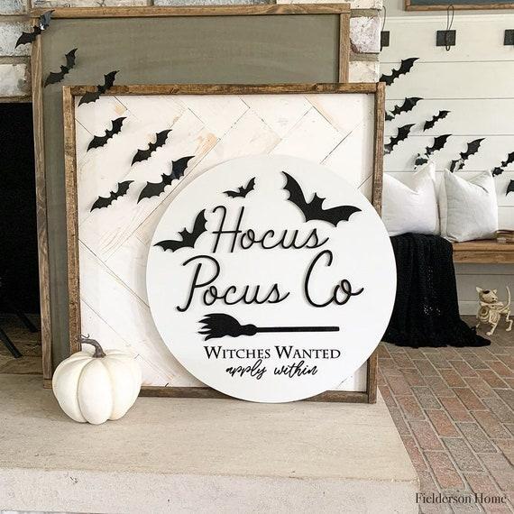 Hocus Pocus 3D Circle Wood Sign/ Fall Decor/ halloween Sign