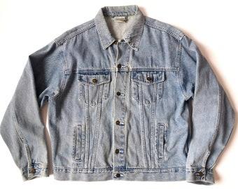 09f9cf464bca Vintage des années 90 bleu jeans veste Soft Grunge veste avec poches taille  L Grunge Punk Rock homme filles Nirvana Kurt Cobain 90 s vêtements femmes