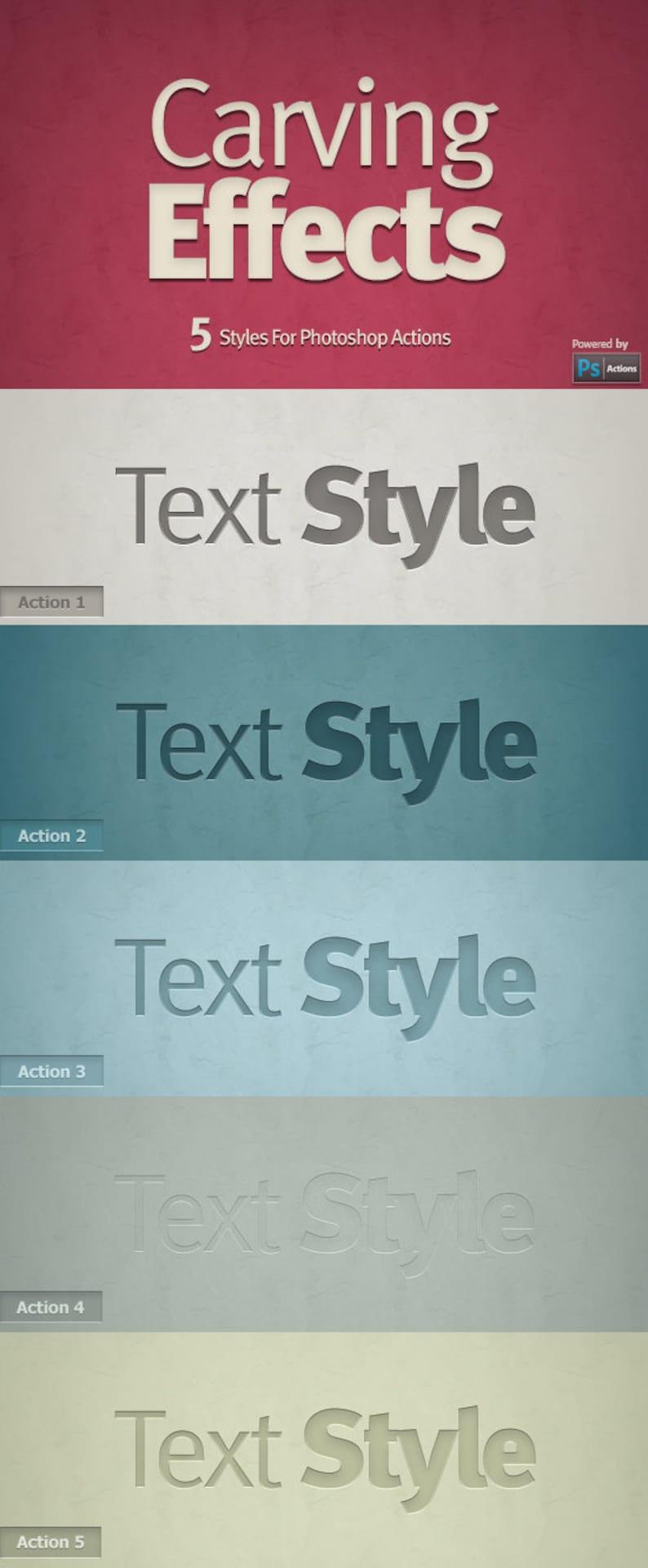 craving effects-texture font effect photoshop action Letterpress Effects action