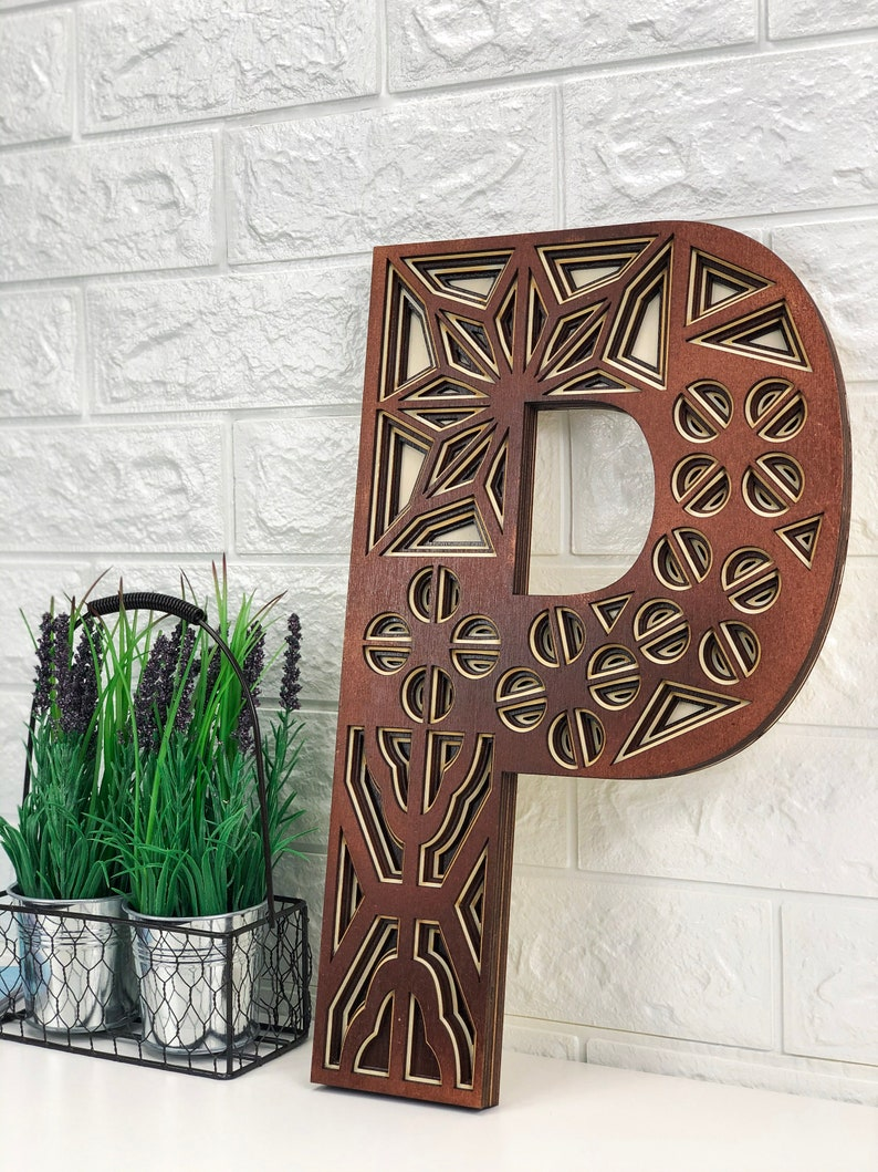 """2/"""" Decorated Wooden Capital Letters"""