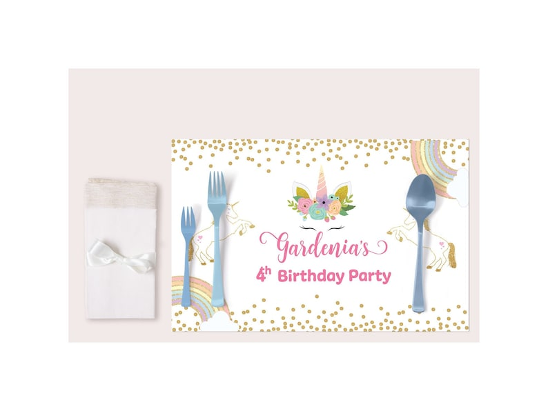 Paint Party Placemats Decoration Birthday Party Favor Supplies