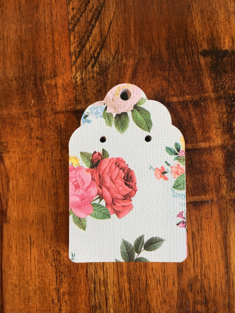 24-Flowered Earring Display Cards-cardstock earring holders-jewelry display-earring holders