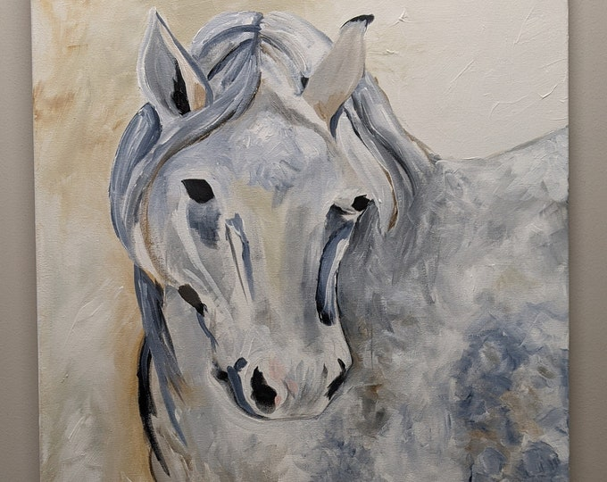 Equus -  24 x 36 Original Acrylic Painting on Canvas by Sheri Chen 2019