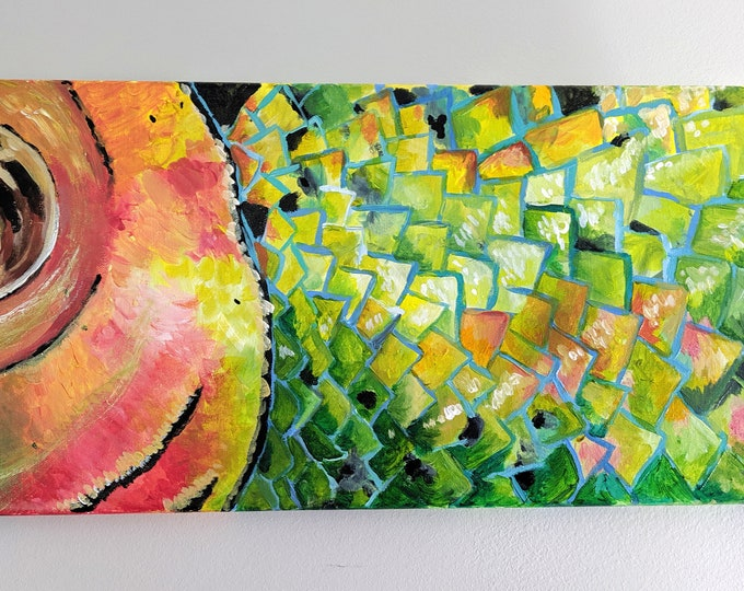 Scales of Color! Original Acrylic Painting on Canvas by Sheri Chen