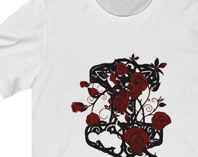 Thor And Roses  Unisex Jersey Short Sleeve Tee