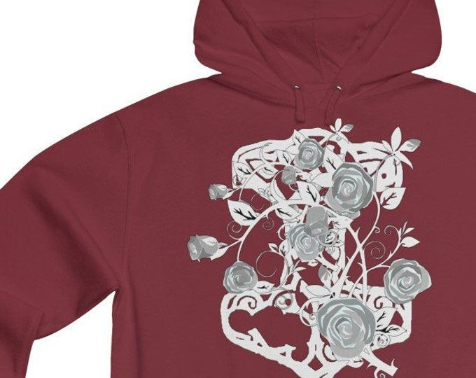 Thor And White Roses Soft Lightweight Hoodie