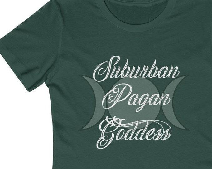 Suburban Pagan Goddess  Soft WomenS The Boyfriend Tee