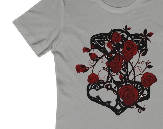 Thor And Roses  Soft WomenS The Boyfriend Tee