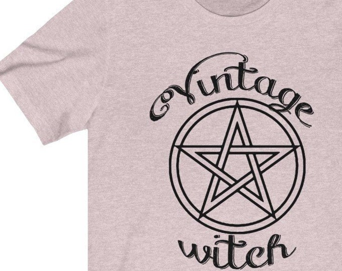 Vintage Witch  Soft Awesome Unisex Jersey Tee