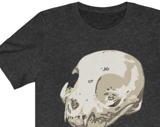 Cat Skull Of Doom Unisex Jersey Short Sleeve Tee