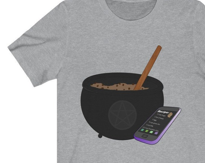 Cookies And Cauldrons  Soft Unisex Jersey Short Sleeve Tee