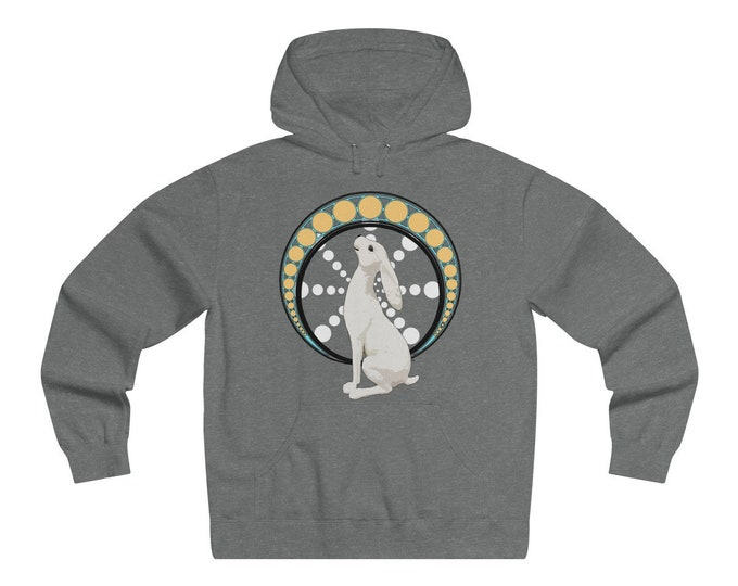Gazing At The Moon  Soft Pullover Hooded Sweatshirt