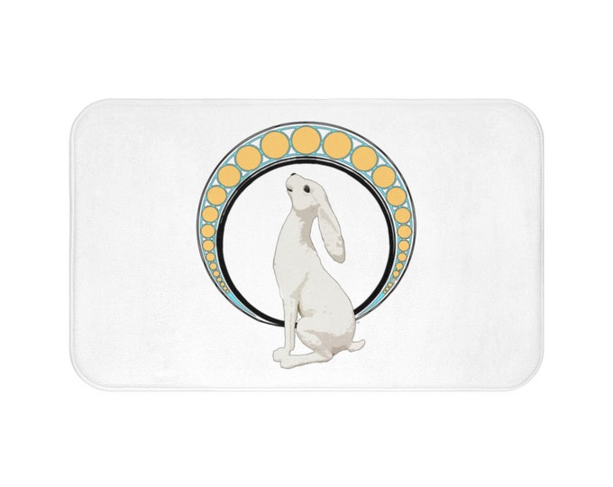 Gazing At The Moon Bath Mat