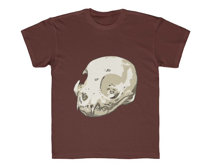 Cat Skull Of Doom  Comfy Kids TShirt