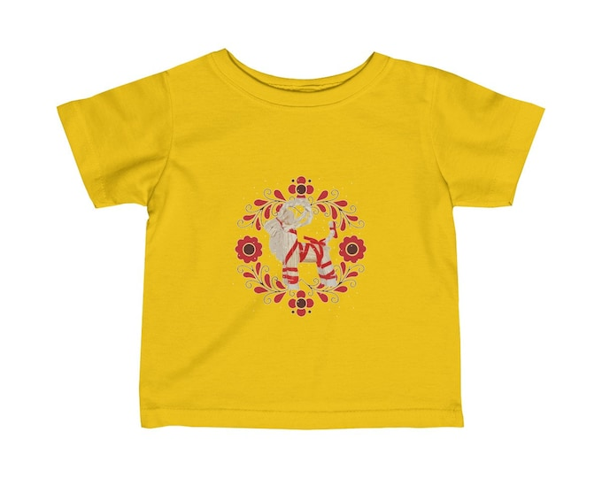 Yule Goat Soft Infant Jersey Tee  Special Holiday Price