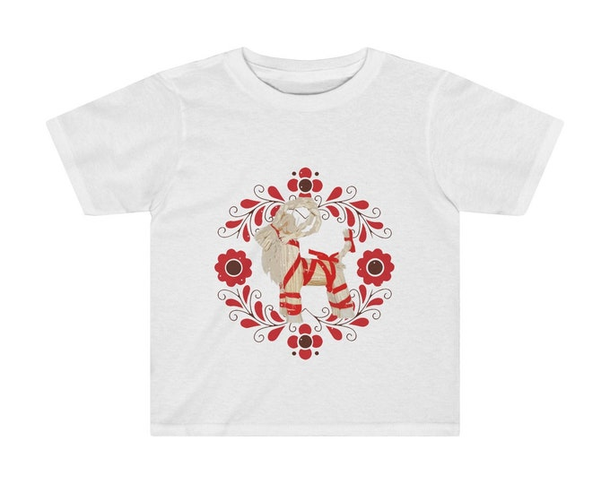 Yule Goat  Soft Kids Tee  Special Holiday Price