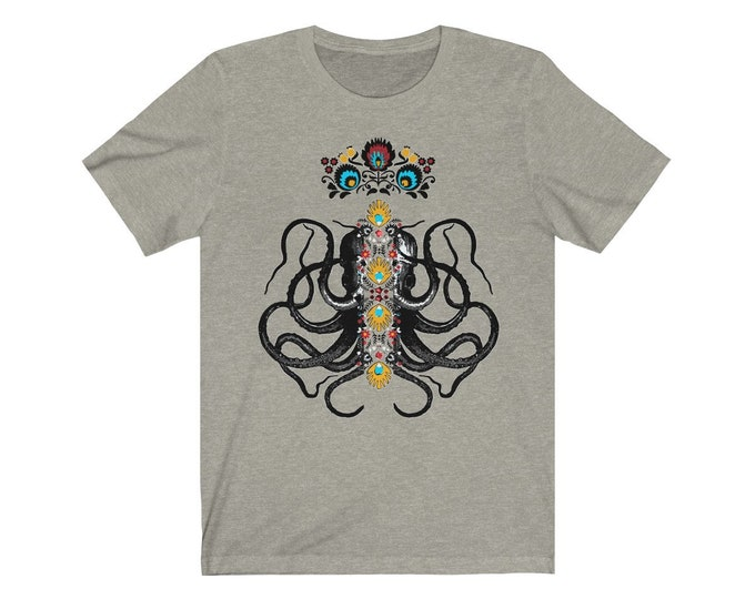 Octopus King  Soft Unisex Jersey Tee