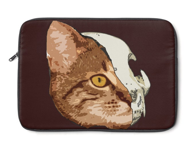 Half Cat Laptop Sleeve