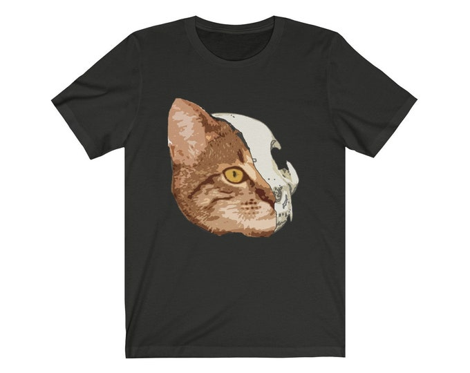 Half Cat  Unisex Soft Jersey Short Sleeve Tee