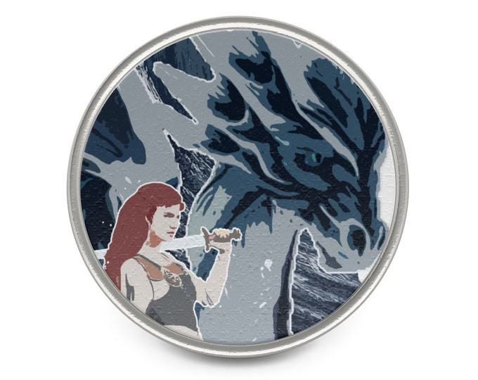 Warrior Witch Queen Metal Pin