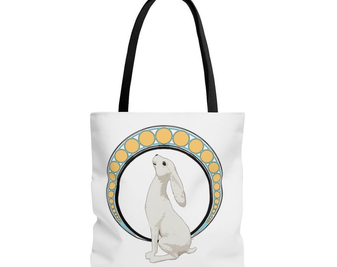 Gazing At The Moon  Tote Bag