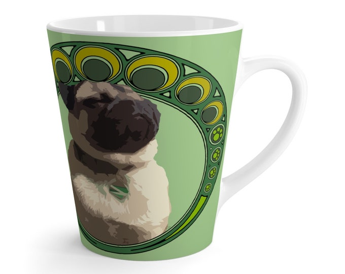 Luck of the Pug Latte mug