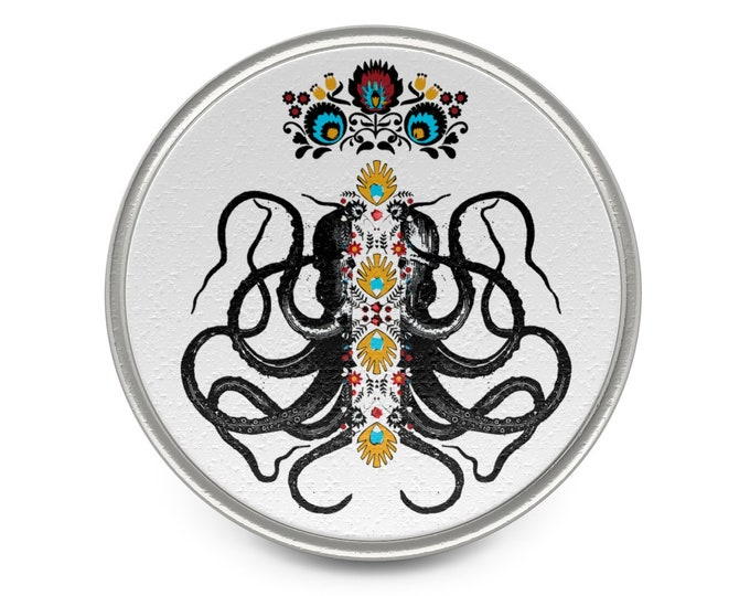 Octopus King Metal Pin