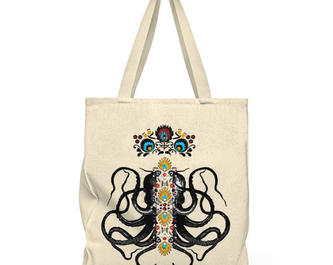 Octopus King  Shoulder Tote Bag  Roomy