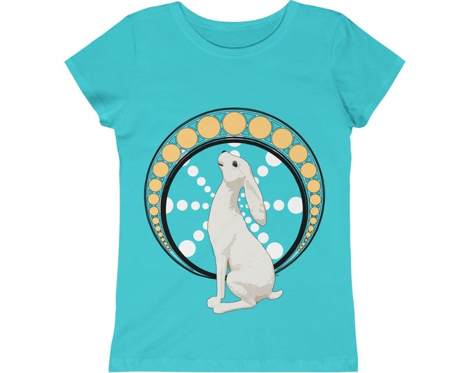 Gazing At The Moon  Celebrate Ostara Girls  Tee