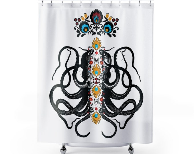 Octopus King Shower Curtains