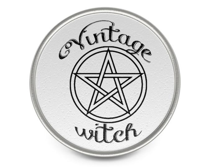 Vintage Witch Metal Pin