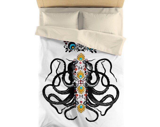 Octopus King Microfiber Duvet Cover