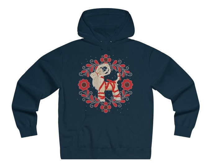 Yule Goat Unisex Lightweight Pullover Hooded Sweatshirt