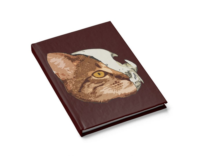 Half Cat Journal  Blank