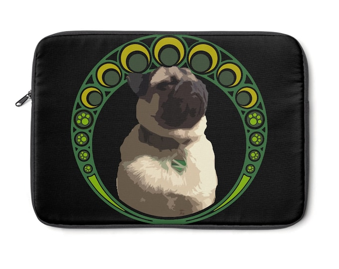 Luck of the Pug- Laptop Sleeve