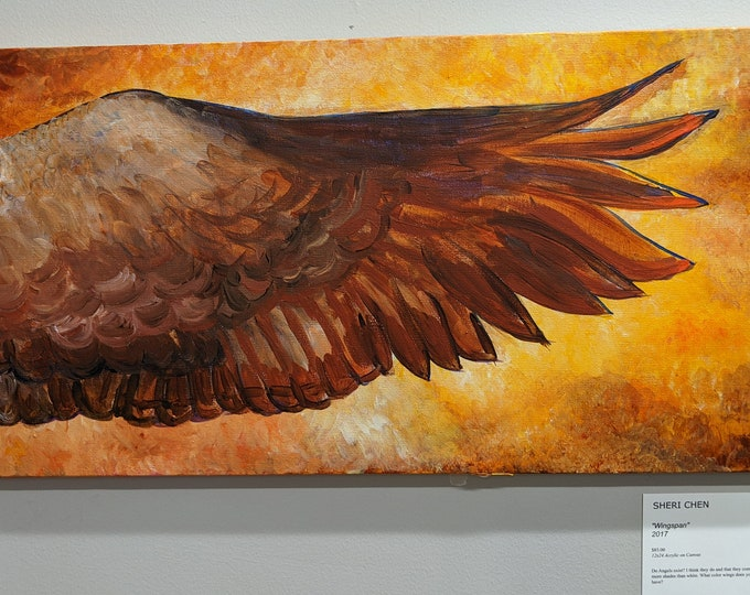 Wingspan - 12 x 24  Original Acrylic Painting on Canvas by Sheri Chen 2017