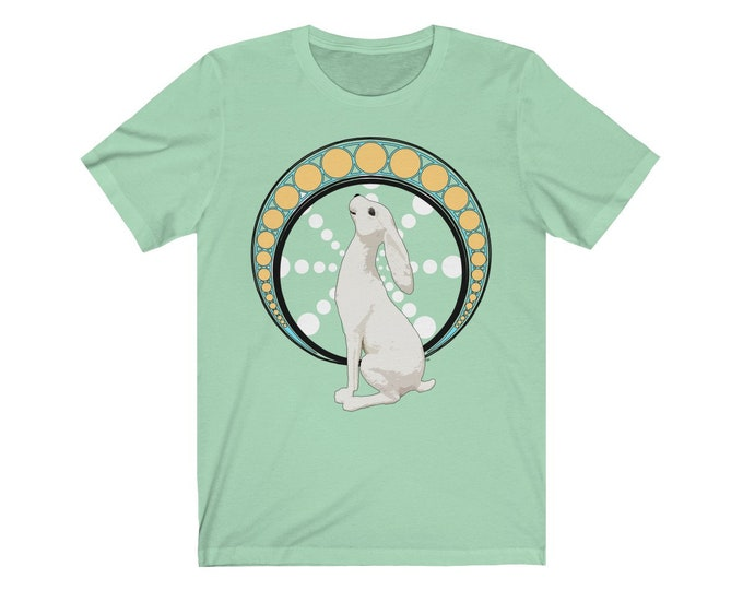 Gazing At The Moon  Celebrate Ostara Unisex Jersey Short Sleeve Tee