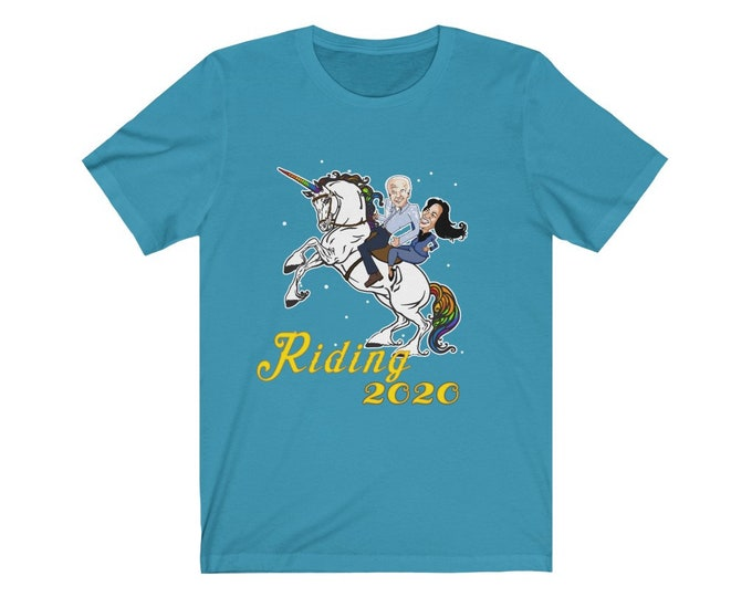 Ridding 2020 - Riding with Biden - Unisex Jersey Short Sleeve Tee