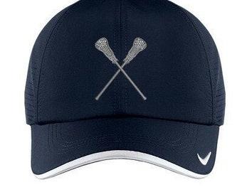 55e82b30a8b3e Nike Lacrosse Baseball Cap Hat Unisex NAVY