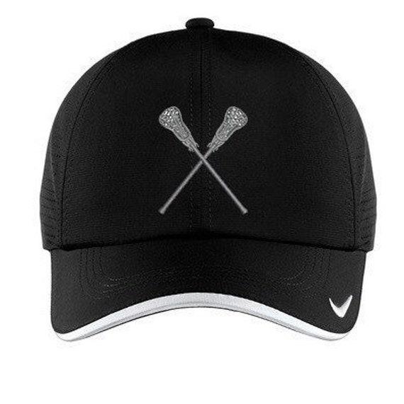 7ca5acbc NIKE Lacrosse Baseball Cap Hat Unisex BLACK | Etsy