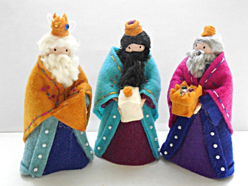 Three Wise Men Clothespin Ornament