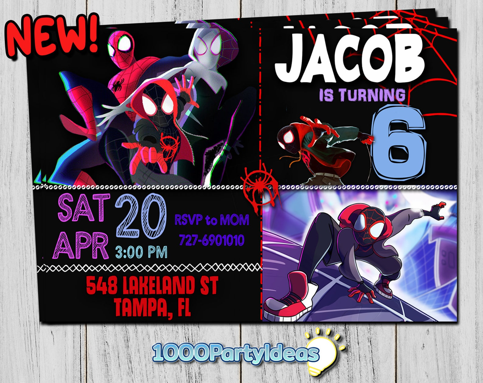 Printable Spiderman Invitations Page Five